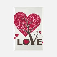 Love Grows Heart Tree Rectangle Magnet