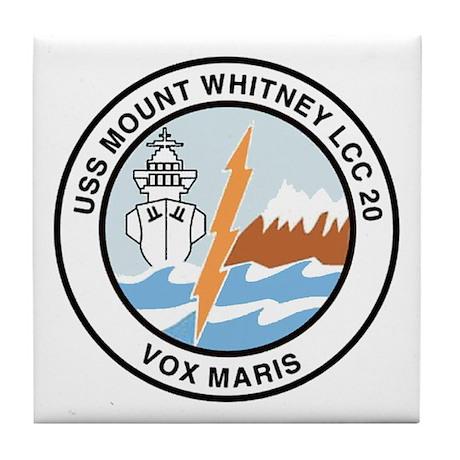 USS Mount Whitney LCC 20 Tile Coaster