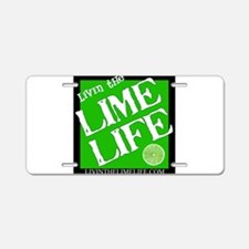 Lime Life Aluminum License Plate