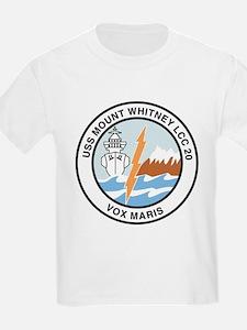 USS Mount Whitney LCC 20 Kids T-Shirt