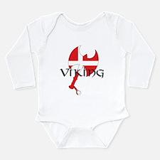 Denmark Viking Axe Long Sleeve Infant Bodysuit