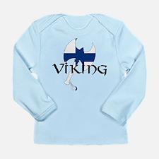 Finnish Viking Axe Long Sleeve Infant T-Shirt