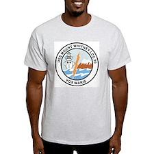 USS Mount Whitney LCC 20 Ash Grey T-Shirt