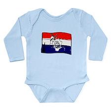 Dutch flag with sketch Long Sleeve Infant Bodysuit