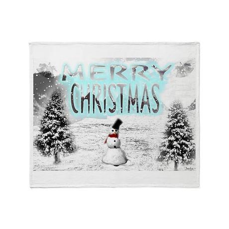 Jmcks Merry Christmas Throw Blanket