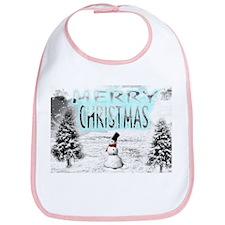 Jmcks Merry Christmas Bib