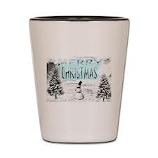 Jmcks Merry Christmas Shot Glass