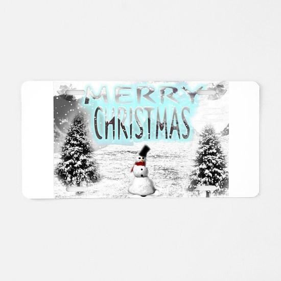 Jmcks Merry Christmas Aluminum License Plate