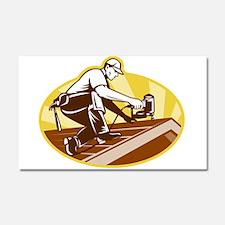 roofer roofing worker Car Magnet 20 x 12