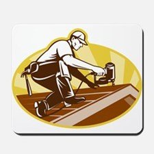 roofer roofing worker Mousepad