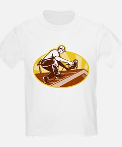 roofer roofing worker T-Shirt