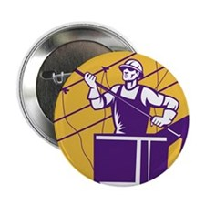 "telephone line worker 2.25"" Button (10 pack)"