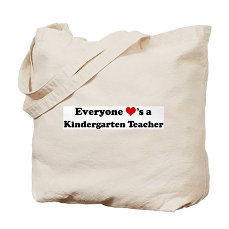Loves a Kindergarten Teacher Tote Bag