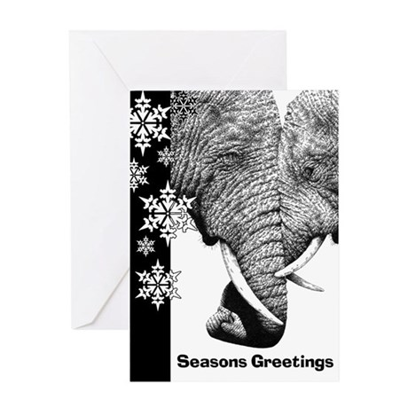 Elephants Trunks Entwined Greeting Card