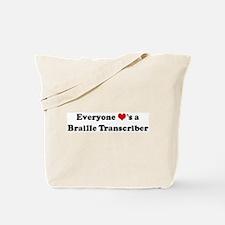 Loves a Braille Transcriber Tote Bag