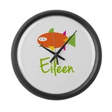 Eileen is a Big Fish Large Wall Clock