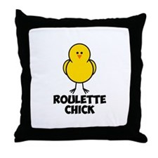 Roulette Chick Throw Pillow