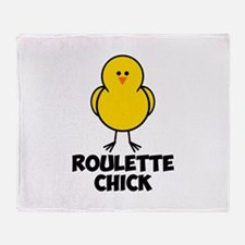 Roulette Chick Throw Blanket