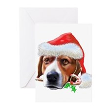 Beagle Christmas (d) Greeting Cards (Pk of 10)