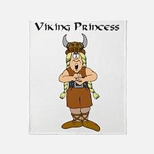 Viking Princess Throw Blanket