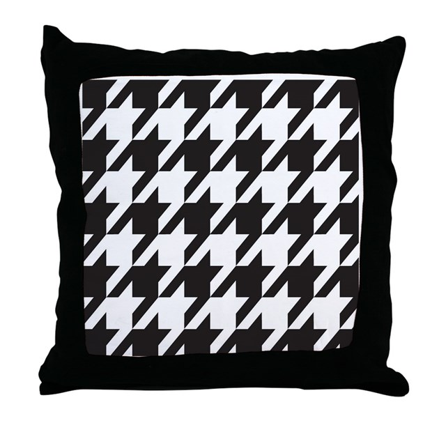 Alabama Houndstooth Throw Pillow By Stickertown