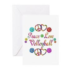 Peace Love Volleyball Greeting Cards (Pk of 10)