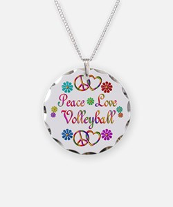 Peace Love Volleyball Necklace