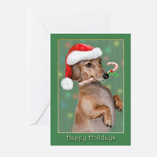 Dachshund (d) Greeting Cards (Pk of 10)