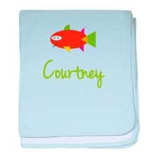 Courtney is a Big Fish baby blanket
