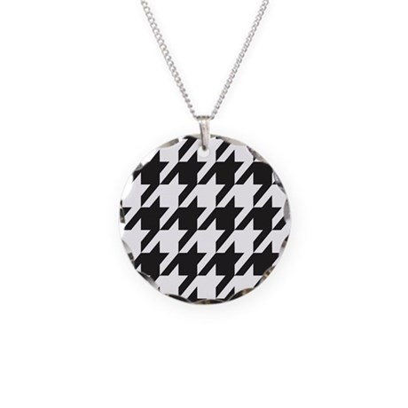 Alabama Houndstooth Necklace Circle Charm