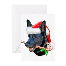 German Shepherd (Black/c) Greeting Cards (Pk of 20