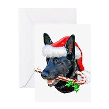 German Shepherd (Black/c) Greeting Card