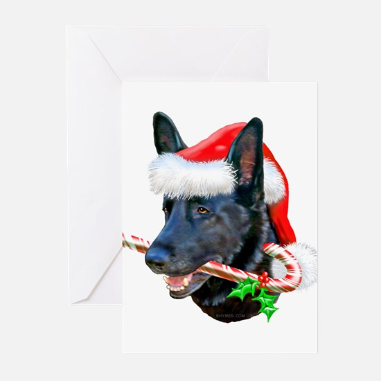 German Shepherd (Black/c) Greeting Cards (Pk of 10