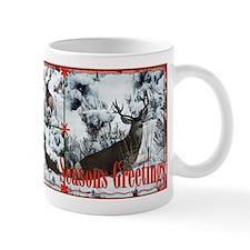 Buck deer in snow Mug