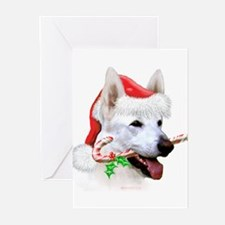 German Shepherd (White/a) Greeting Cards (Pk of 10