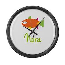 Nora is a Big Fish Large Wall Clock