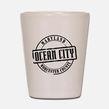 Ocean City Title Shot Glass