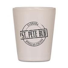 St Pete Bch Title Shot Glass