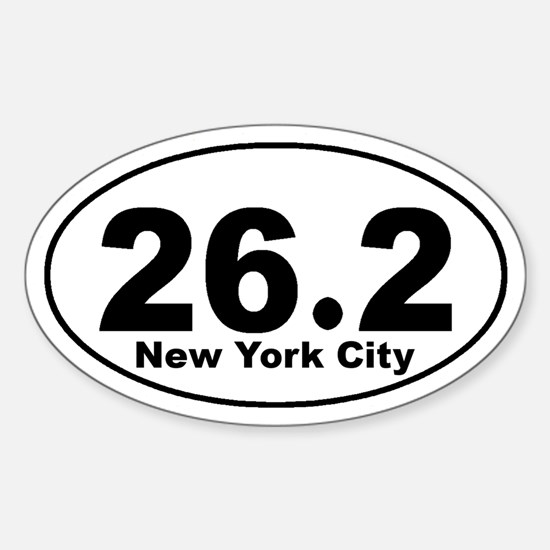 26.2 NYC marathon Sticker (Oval)