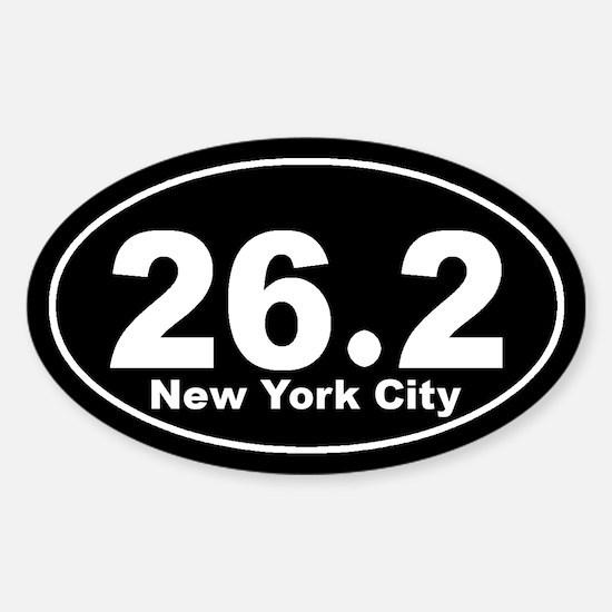26.2 New York City marathon Sticker (Oval)