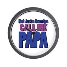 Call Me Papa Wall Clock