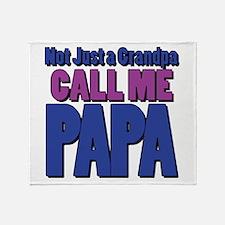 Call Me Papa Throw Blanket