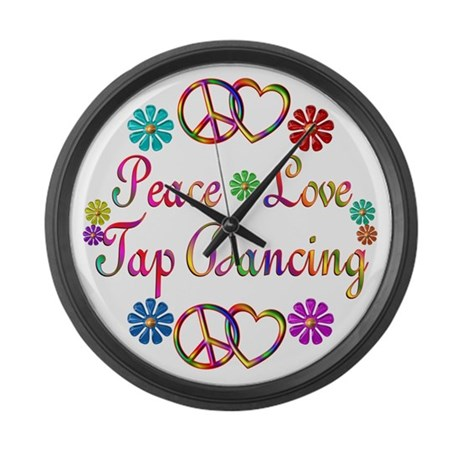 Peace Love Tap Large Wall Clock