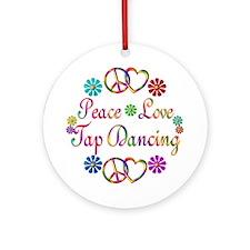 Peace Love Tap Ornament (Round)