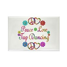 Peace Love Tap Rectangle Magnet (100 pack)