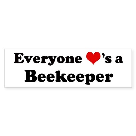 Loves a Beekeeper Bumper Sticker