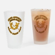 Army - Judge Advocate General Corps Drinking Glass