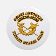Army - Judge Advocate General Corps Ornament (Roun