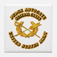 Army - Judge Advocate General Corps Tile Coaster