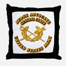 Army - Judge Advocate General Corps Throw Pillow